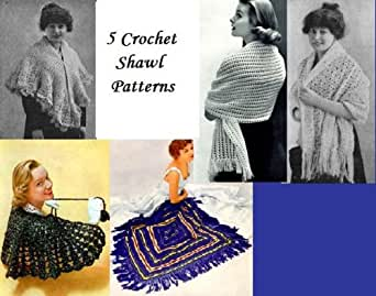 Amazon.com: 5 Crochet Shawl Patterns eBook: Unknown: Kindle Store