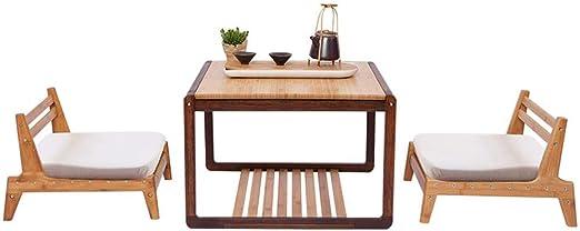 japanischer tisch rund stühle rückenlehne sitzkissen küche