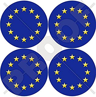 Aufkleber Vinyl X2 Bumper Sticker 100/mm Europa Europ/äische Union Flagge EU 10,2/cm