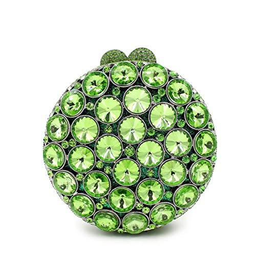 Mariage Fête Cristal De Strass Les Sac Femmes De À Rond Clouté Embrayage Sac Green Sac Main KOKR qvIEUU