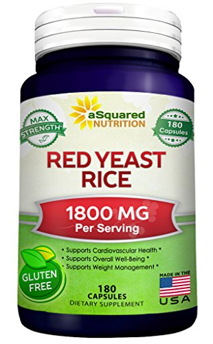 Red Yeast Rice 1800mg - Dietary Supplement Powder Pills to Support Cardiovascular Health - 180 (Dietary Supplement Brands)
