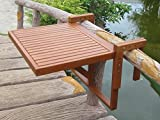 Harms Balcony hanging table 100% FSC eucalyptus oiled outdoor furniture height adjustable depth 985089