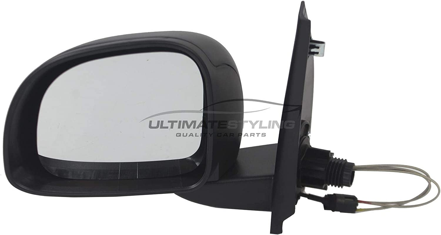 Ultimate Styling Replacement Manual None Power Folding Wing Door Mirror With Non-Heated Glass With Black Mirror Cover Cap Side Of Product Passenger Side LH