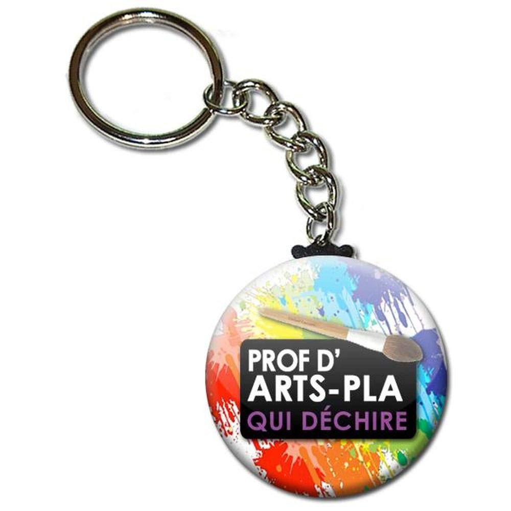 Prof d Arts Plastique qui D/échire Porte Cl/és Cha/înette 3,8 centim/ètres Id/ée Cadeau Accessoire Professeur Enseignant Mati/ère