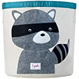 3 Sprouts Storage Bin, Raccoon, Grey