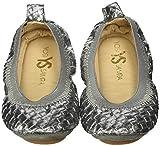 Yosi Samra Girls Sammie Digital Metallic Slip on Ballet Flat (Toddler), Gunmetal, 9 M US Toddler