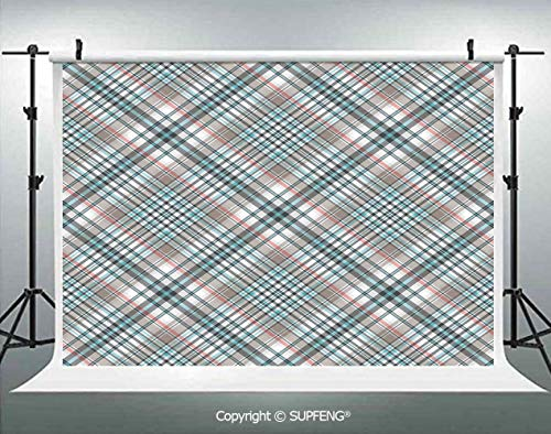 - Photography Backdrops Traditional Pattern with Crosswise Dense Lines Plaid Inspired 3D Backdrops for Photography Backdrop Photo Background Studio Prop