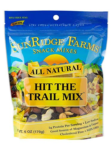 - SunRidge Farms Hit The Trail Mix NonGMO Verified 6 Ounce Bag (Pack of 12)