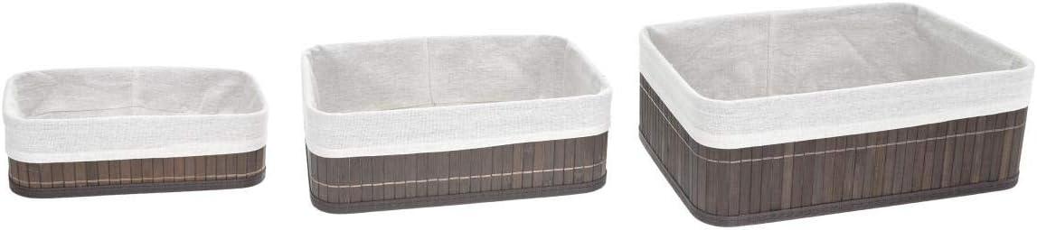 Ideal para Organizar Tus Productos de una Manera Elegante TIENDA EURASIA/® Set 3 Cestas de Almacenaje de ba/ño Natural