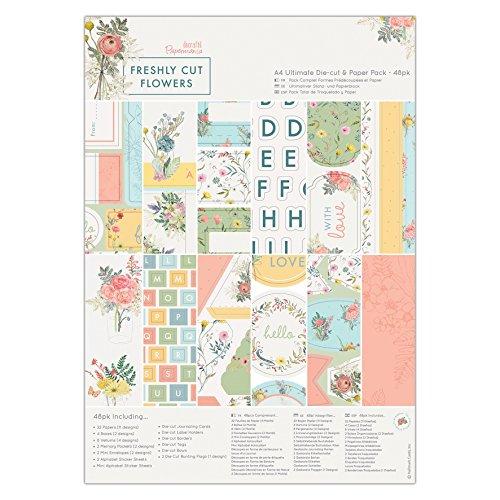 Papermania Freshly Cut Flowers A4 Ultimate Die-Cut & Paper Pack (Pack of ()