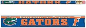 WinCraft NCAA University of Florida Gators 6 Pack Wood Logo Pencil Set
