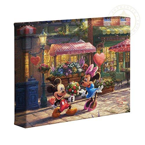 (Thomas Kinkade Studios Mickey and Minnie Sweetheart Cafe 8 x 10 Gallery Wrapped Canvas)