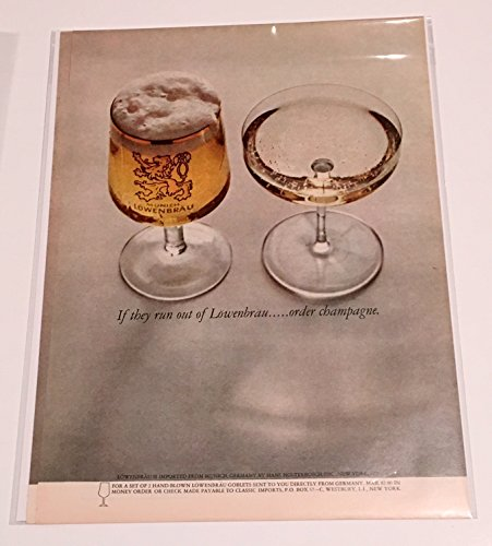 1963-lowenbrau-if-they-run-out-order-champagne-print-ad-lot-of-two
