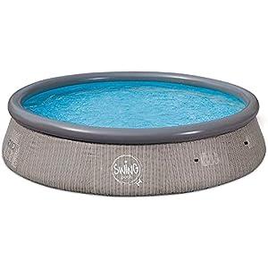 well2wellness® Quick-Up Pool Swing – Piscina (366 x 91 cm, ratán trenzado)