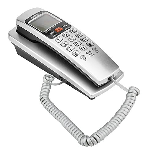 - Richer-R FSK/DTMF Caller ID Telephone Corded Phone Crystal Button,Desk Put Landline Fashion Extension Telephone Home(Silver)