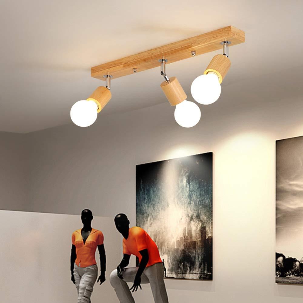 Moddeny Lampada da soffitto a parete in legno massello ...