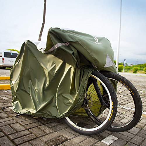 YardStash Bicycle Cover XL: Extra Large Size for Beach Cruiser Cover, 29er Mountain Bike Cover, Electric Bike Cover, Multiple Kids' Bike Cover and Cover for Bikes with Baskets, Child Seats or Racks by YardStash (Image #3)