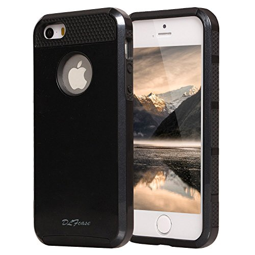 iPhone 4S Case, iPhone 4 Case, TPU + Pc Dual Layer Hybrid Fashion Shockproof Soft Hard Defender Case Cover for Apple iphone 4/ 4S (Black) (4s Mobile)