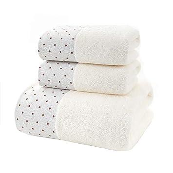 WWJ-towel Dot Tres Juegos De 2 Toallas + 1 Toalla De BañO CombinacióN CóModa Toalla Absorbente para Lavar NiñOs Adultos Unisex: Amazon.es: Hogar