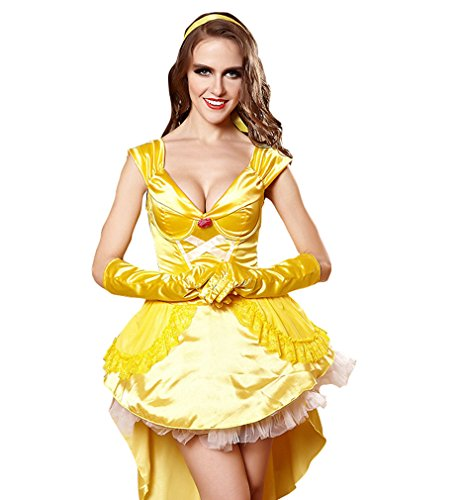 [YueLian Women's Halloween Fairytale Cosplay Housemaid Princess Novelty Costume Set (L)] (Water Fairy Costume)