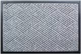 Palm Fibre Private Limited PLM 17691B Embossed Doormat, Grey Polypropylene, 18 x 30-In. - Quantity 10