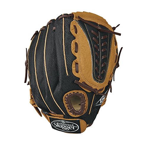 Louisville Slugger 12-Inch FG Genesis Baseball Infielders Gloves, Brown, Right Hand Throw - Infielders Glove