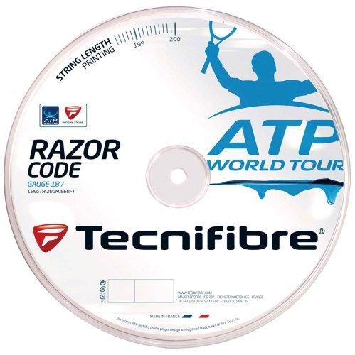 Tecnifibre ATP Razor Code Tennis String - 200m Reel, Color- Blue, Gauge- 1.30mm by Tecnifibre (Reel 200)