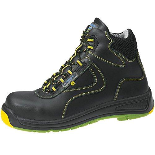Abeba ESD-S-Schuh Static Control Stiefel Kunststoffkappe, sw, Glattleder ATEX-Design, CE, EN ISO 20345:2011, S3, Gr. 40 Schwarz