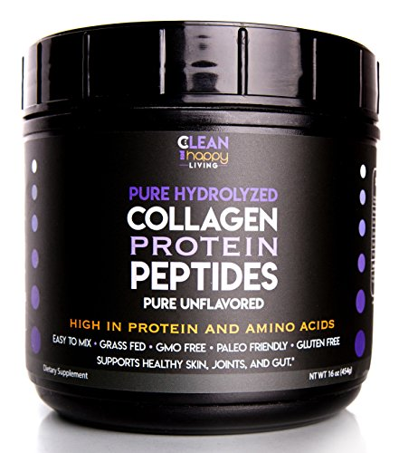 Grass-Fed Pasture Raised Pure Hydrolyzed Collagen Protein Powder Peptides Pure Unflavored