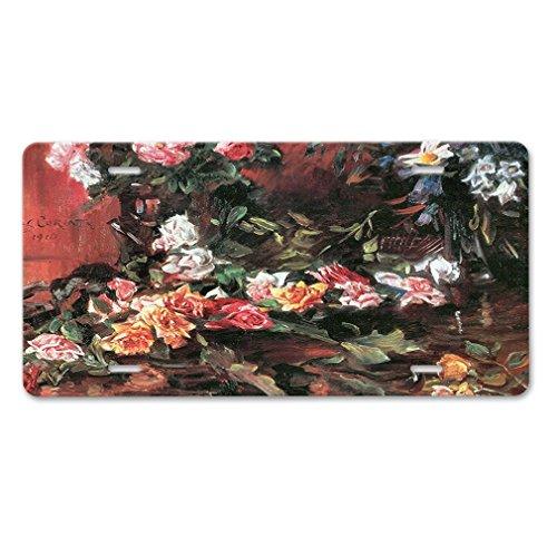 Lievon Roses #3 (Lovis Corinth) Car Aluminum License Plate Corinth Rose