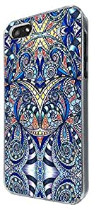 Blue Vintage Shabby Chic Paisly Middle East art 221 Design iphone 5 5S Fashion Trend Case Back Cover Hard plastic / Thin Metal