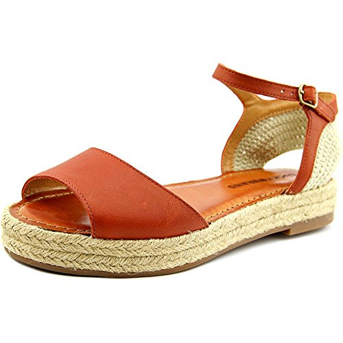 Wedge Peep Toe Flats Shoes (Lucky Brand Flairr Women US 8.5 Tan Peep Toe Espadrille)