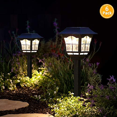 Solar Pathway Lights Outdoor or Solar Lights Outdoor or Solar Garden Lights or Solar Landscape Lights or Solar Lights for Yard/Patio/Walkway/Driveway/Lawn/décor (6) (The Best Solar Walkway Light)