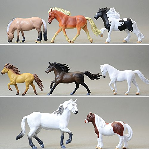 Simulation of small animal model Toy horse Action & Toy Figures horses ponies 8pcs/sets Home Collection
