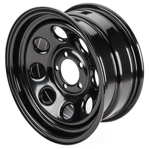 Cragar 3975750: Wheel, Soft 8, Steel, Black, 15 in. x 7 in., 5 x 5 in. Bolt Circle, 4 in. Backspace, Each (15x7 Steel)