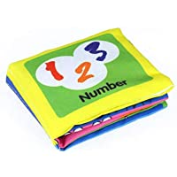 PAWACA Baby Portable Cloth Book,Non-Toxic Soft Fabric Book Best for Baby Early Education Cognitive with Rustle Sound,Washable Book for Infants Crinkle,Colorful