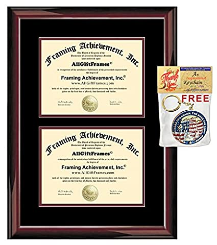 Amazon.com : Double Diploma Frame Two Degree Frames Document Dual ...