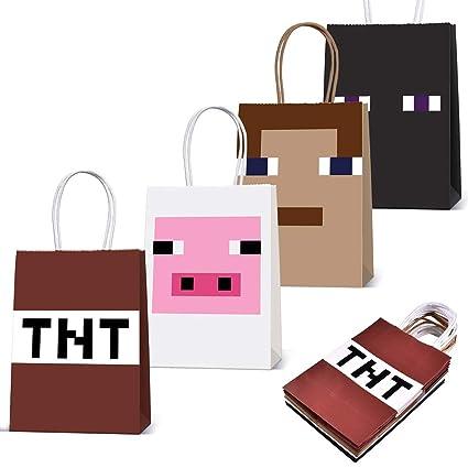 Amazon.com: Pixel Miner - Bolsas de papel para juegos (12 ...