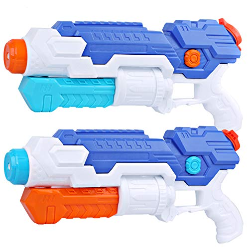 PEFECEVE Water Gun Super Soaker Blaster for Kids, 2 Pack 800 CC Capacity 40Ft Long Range Squirt Guns for Adults, Pool Toys for Teens Swimming Beach Sand Water Fighting Air - Soaker Water Gun