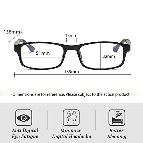 Cyxus Blue Light Blocking [Lightweight TR90] Glasses for Anti Eye Strain Headache Computer Use Eyewear, Men/Women (TR90 black) by Cyxus (Image #4)