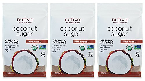 Nutiva Organic Coconut Sugar, Unrefined, 1 Pound (Pack of 3)