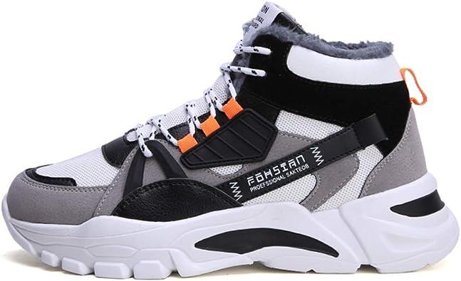 Zapatos Deportivos para Hombre Cordones al Aire Libre Invierno Primavera Plus Zapatillas de Terciopelo cálido Entrenador Zapatos Casuales de caña Alta Usable: Amazon.es: Zapatos y complementos