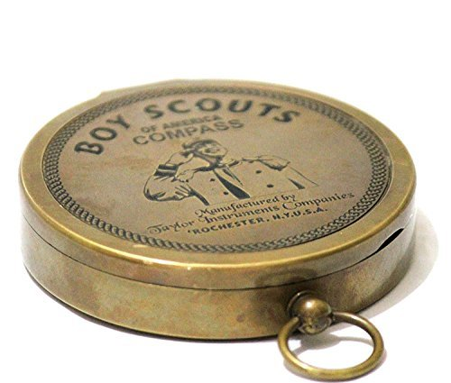 Collectibles Buy American Boy Scout Compass Antique Vintage Brass Compass (Compass) -