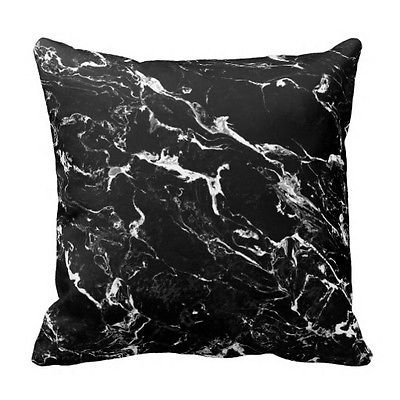 LOVEPreferred NEW Black & White Marble Texture Home Decor Design Throw Pillow Cover Pillow Case 16x16 Inch Cotton Linen for Sofa For Living room Bed or Dorm Decor