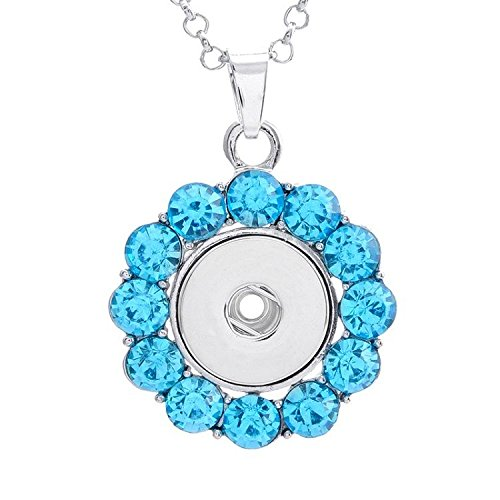 1pc Crystal Alloy Pendant for Fit Noosa Necklace Snap Chunk Button FY7Q
