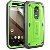 Supcase Unicorn Beetle Pro Series Full-body Rugged Dual Layer Bumper Case with Built in Belt Clip Holster and Screen Protector for Moto X (2nd Gen) - Black