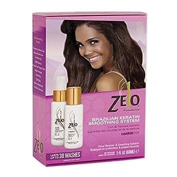 Amazoncom Zelo Brazilian Keratin Smoothing System Coarse Hair