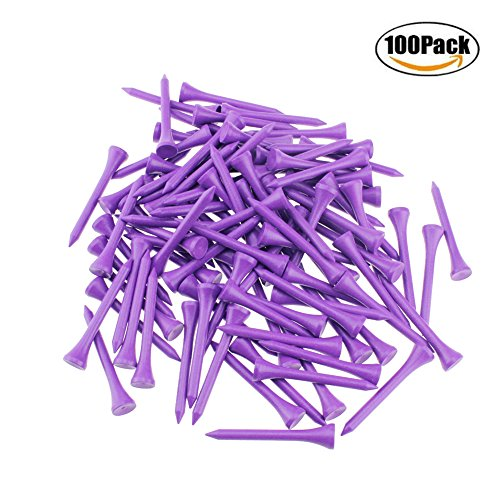 Wooden Golf Tees Pack (Kofull Golf tees 2 1/8inch Wood Natural Professional 100/Pack Less Friction Golf Wooden Tees Training for Golfer (purple))