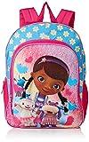 Disney Girls' Doc McStuffins Backpack, Light Blue/Pink