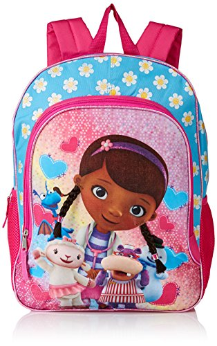 Disney Girls' Doc McStuffins Backpack, Light Blue/Pink ()